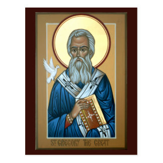 St Gregory die große Gebets-Karte Postkarte