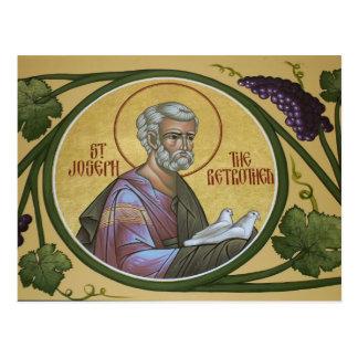 St Joseph die verlobte Gebets-Karte Postkarte