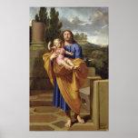 St Joseph portant Jésus infantile, 1665 Posters