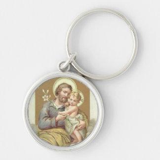 St- Josephbaby-Jesus-Lilie Schlüsselanhänger