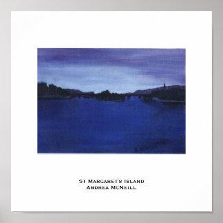 St Margaret Insel-Plakat Poster