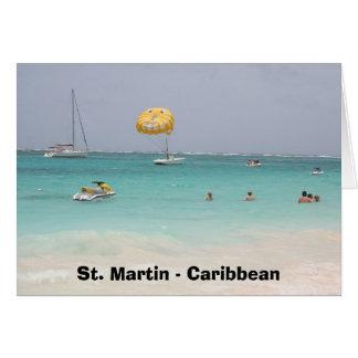 St Martin - Karibische Meere Grußkarte