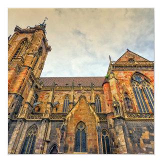 St Martin Kirche, Colmar, Frankreich Karte