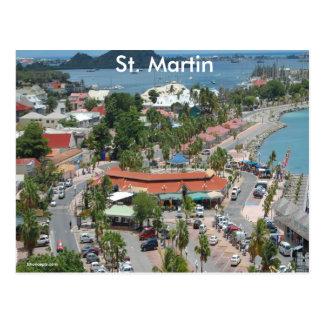 St Martin und Marigot Bucht-Foto Postkarte