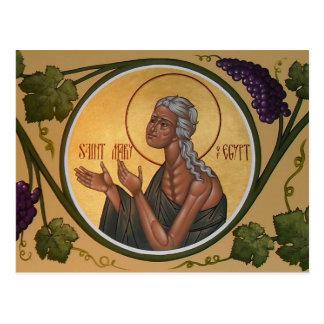 St Mary der Ägypten-Gebets-Karte Postkarte