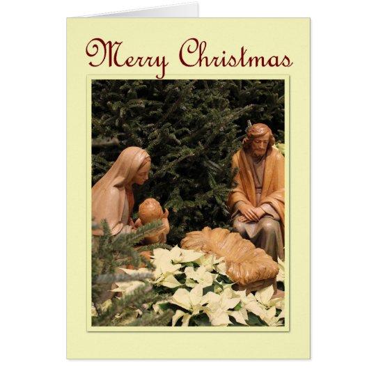 St. Mary Parish - Krippen-Weihnachten Grußkarte