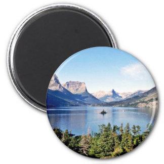 St. Mary See - Glacier Nationalpark Runder Magnet 5,1 Cm