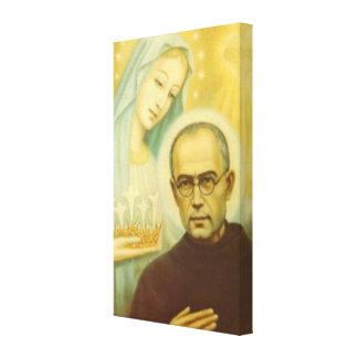 St. Maximillian Kolbe mit Jungfrau Mary u. Krone Leinwanddruck