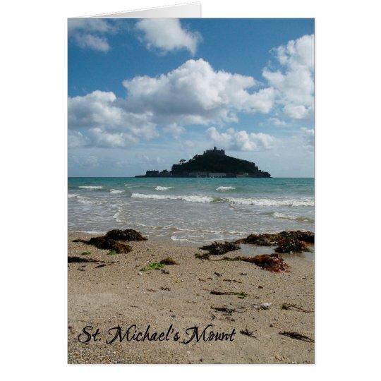 St Michael Berg Marazion Cornwall England Grußkarte