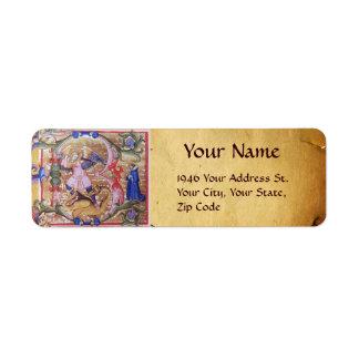 St Michael das Erzengel-Antiken-Pergament