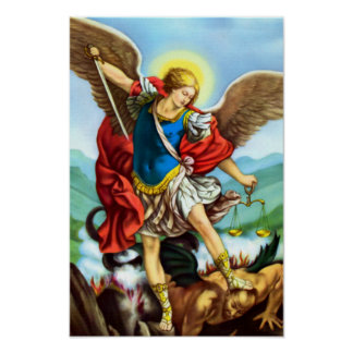 St Michael das Erzengel-Engels-Katholisch-Heilige Poster