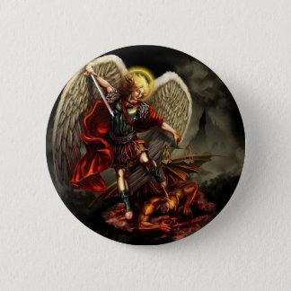 St Michael der Erzengel Runder Button 5,7 Cm