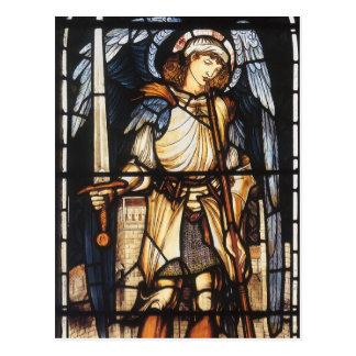 St Michael durch Burne Jones, Vintager Erzengel Postkarte