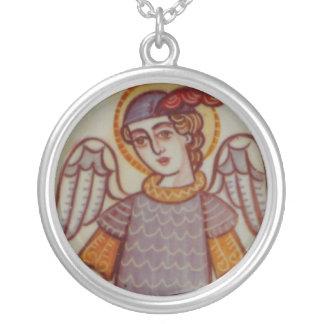 St Michael Versilberte Kette