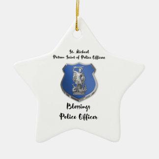 St- Michaelsegen zum neuen Polizeibeamten Keramik Ornament