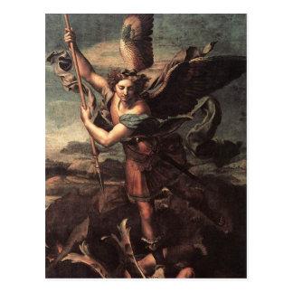 St. Micheal und der Teufel Postkarte