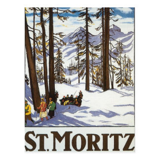 St Moritz Carte Postale