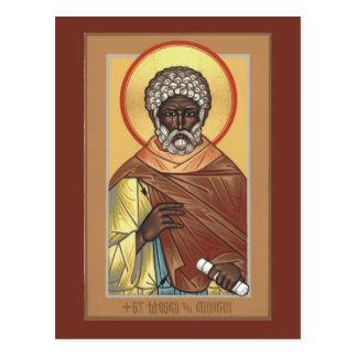St. Moses die äthiopische Gebets-Karte Postkarte