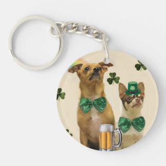 St Patrick Chihuahuahunde Schlüsselanhänger