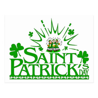 St Patrick Gesang-Kobolde Postkarte