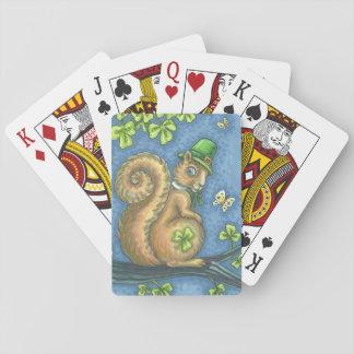 ST PATRICK IRISCHER EICHHÖRNCHEN-SPIELKARTEN Poker Spielkarten