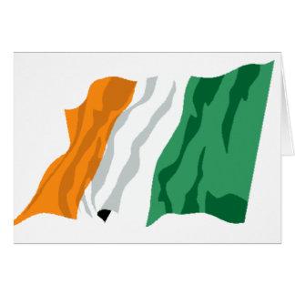 St Patrick Irland-Flaggen-Karte Karte