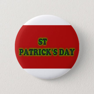 St Patrick Tag, 2 ¼ Zoll-runder Knopf Runder Button 5,1 Cm