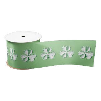St Patrick Tag gezeichneter Klee/Kleeblatt Satinband