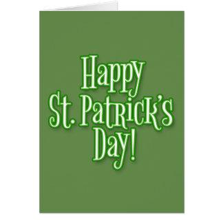 St Patrick Tag Karte