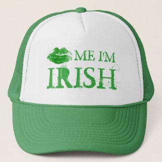 St Patrick Tag küssen mich, den ich irische grüne Truckerkappe