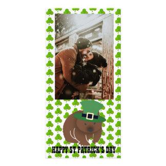 St Patrick Tag Wombat Karte