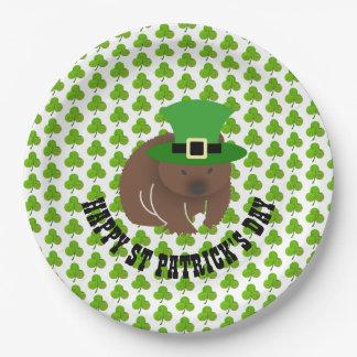 St Patrick Tag Wombat Pappteller