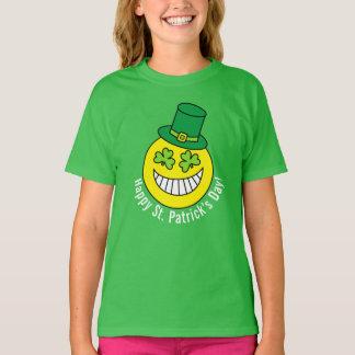 St Patrick TagEmoji Kleeblatt-Augen T-Shirt