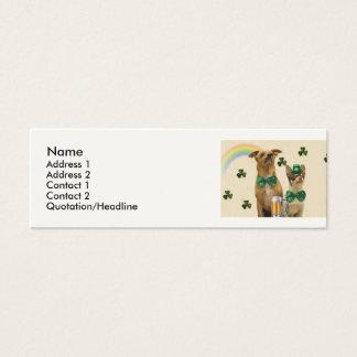 St Patrick TagesChihuahuahunde Mini Visitenkarte