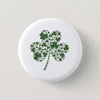 St Patrick Tagesirischer Kleeblatt-Klee Runder Button 2,5 Cm