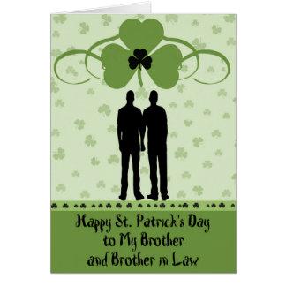 St Patrick Tageskarte, -bruder u. -schwager Grußkarte