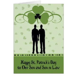 St Patrick Tageskarte für Sohn u. Schwiegersohn Grußkarte