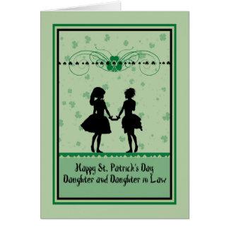St Patrick Tageskarte, -tochter u. Grußkarte