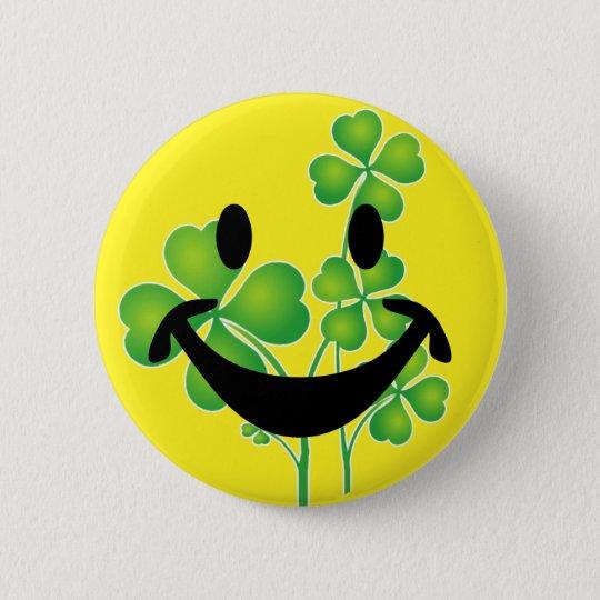 St Patrick Tagesklee u. -smiley + Ihre Ideen Runder Button 5,7 Cm