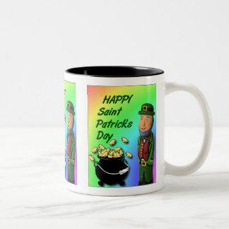 St Patrick TagesTasse Zweifarbige Tasse