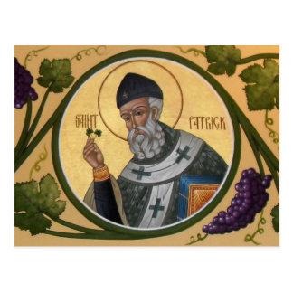 St- Patrickikonen-Gebets-Karte Postkarte