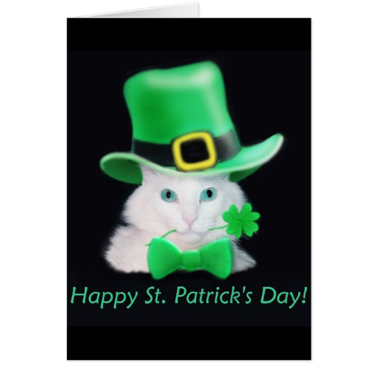 St.Patricks Tageskatzen-Karte Karte