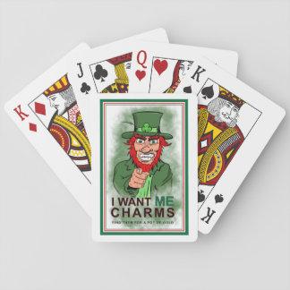 St- Patricktageskobold-Charme-Karten Spielkarten