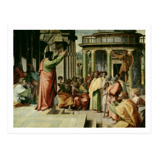 St Paul, das in Athen predigt (Cartoon für das Postkarte