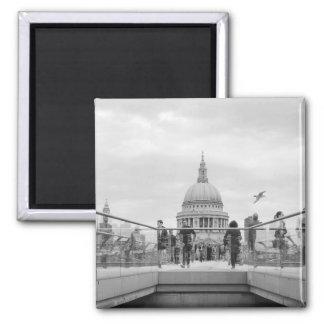St Paul Kathedralen-Magnet: London Quadratischer Magnet
