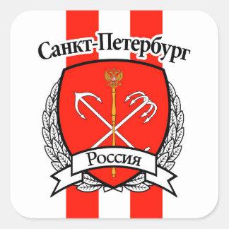St Petersburg Quadratischer Aufkleber