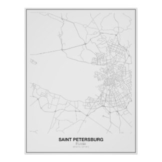St. Petersburg, Russland-Minimalist-Karte Poster