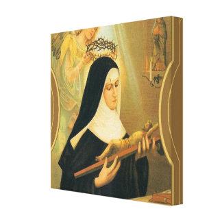 St. Rita von Cascia w/Crown des Dornen-Engels Leinwanddruck