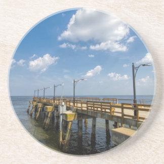 St Simon Insel-Georgia-Öffentlichkeits-Pier Sandstein Untersetzer