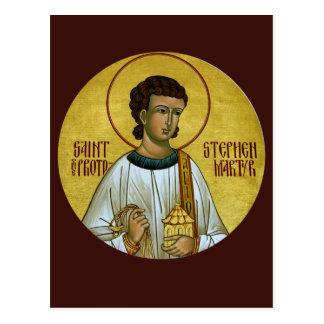 St Stephen die Protomartyr-Gebets-Karte Postkarte
